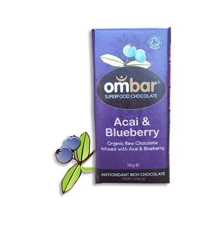 råchoklad ekologisk med acai & blåbär