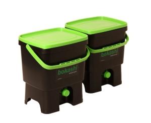 Bokashi kompost, startsats, hinkar med kran