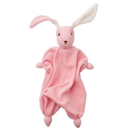 Rosa mjukisdocka i ekologisk bomull och ull från Peppa