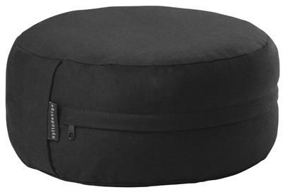 Meditationskudde, svart, fylld med boveteskal