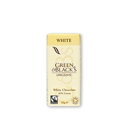 vit choklad Green & Black´s mini