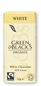 vit choklad Green & Black´s mini