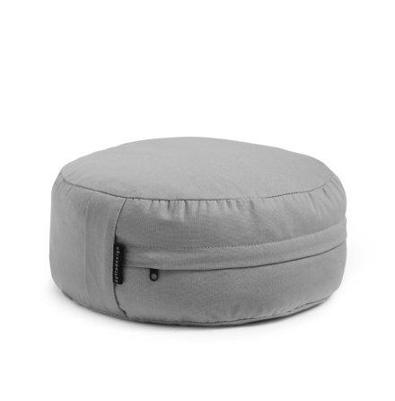 Meditationskudde - Grå, fylld med boveteskal