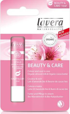 Lip Balm Beauty and Care Rosé, läppbalsam Lavera
