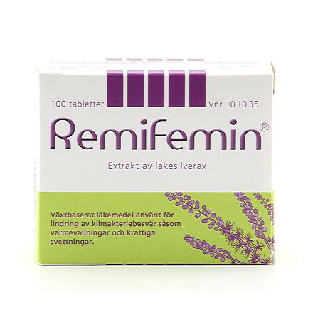 Remifemin, lindring av klimakteriebesvär med örtextrakt