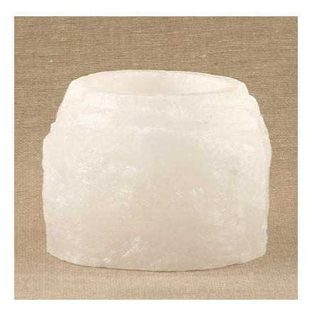 Saltsten värmelykta vit, för värmeljus,  400 g