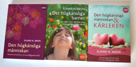 Tre böcker om högkänslighet, Elaine N Aron