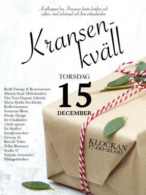 Kransenkväll den 15 december!