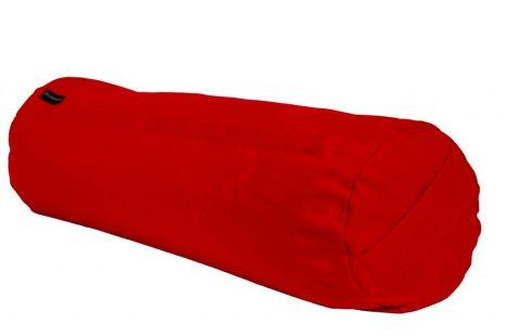 Yogabolster röd, med ekologiska boveteskal
