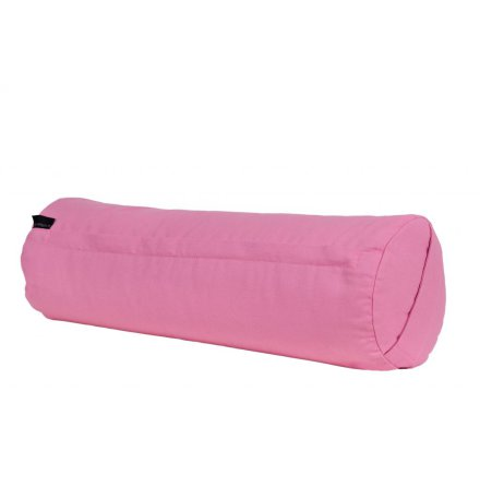 Yogabolster rosa, med ekologiska boveteskal