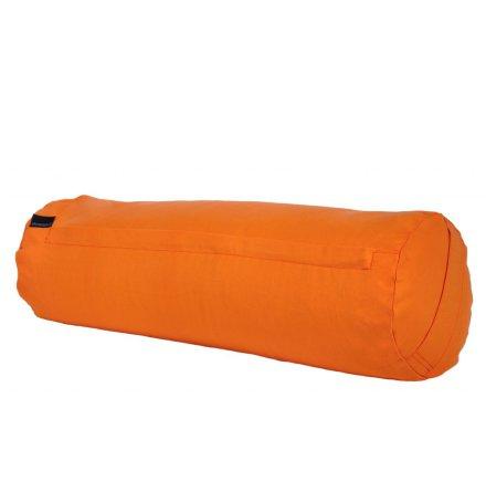 Yogabolster orange, med ekologiska boveteskal