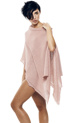 Poncho Transparent, Fair Trade, Puderrosa