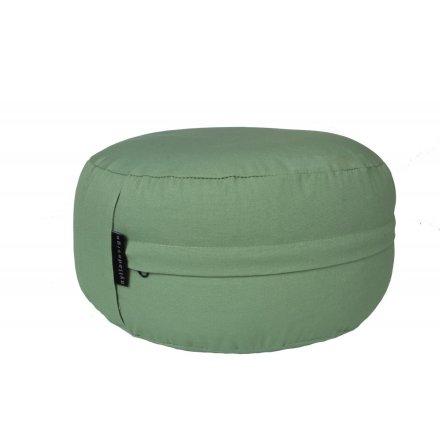 Meditationskudde salviagrön, fylld med boveteskal