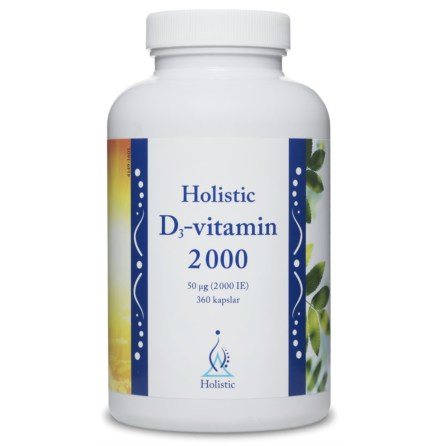 Vitamin D3, 2000 ie, familjepack 360 kapslar från Holistic