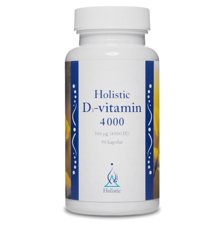 Vitamin D3, 4000 ie, 90 kapslar från Holistic
