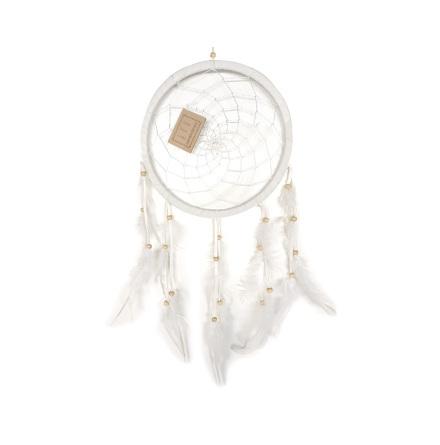 Drömfångare, vit 20 cm i diameter