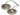 Tingshas, mönstrad med ohm-tecknet