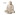 Buddhafigur ljushållare, 20 cm hög Vit