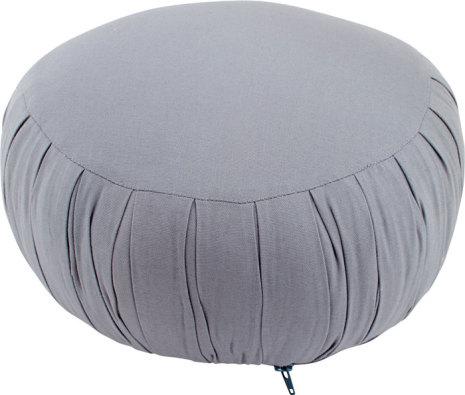 Meditationskudde grå, med fyllning av kapok