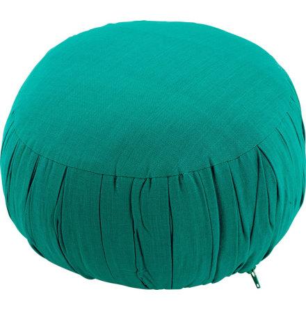 Meditationskudde grön, med fyllning av kapok