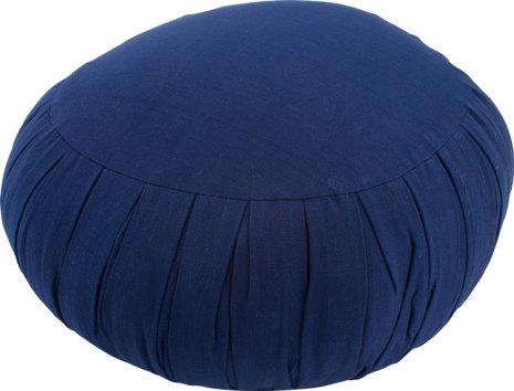 Meditationskudde mörkblå, med fyllning av kapok