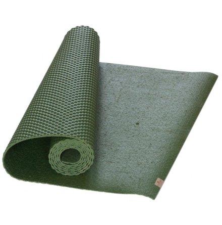 Yogamatta Grön, EcoYogamat, av naturlatex och jutefiber
