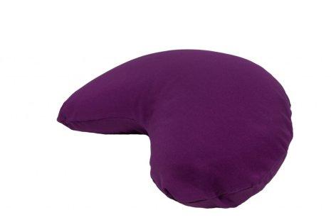 Meditationskudde purpur, halvmåneformad Midi