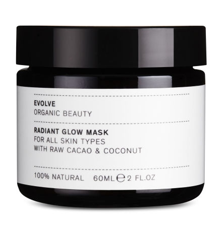 Radiant Glow Mask, 60 ml, ansiktsmask från Evolve