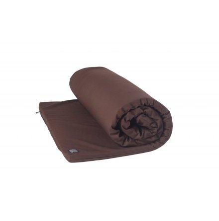 Yogamatta för Yinyoga, av naturlatex med brunt fodral