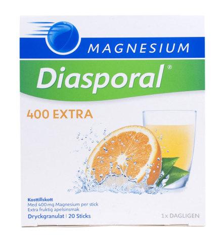 Diasporal, lättupptagligt magnesium, apelsinsmak