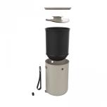 Bokashi startpaket 2.0, designade hinkar för köksbänken + 1 kg strö