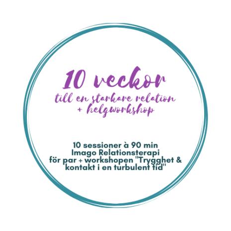 JUST NU! 10 veckor till en starkare relation + Helgworkshop för par
