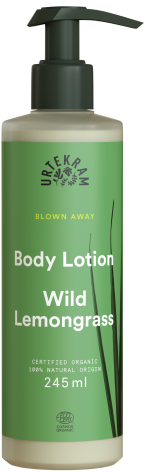 Wild Lemongrass Body Lotion, Urtekram