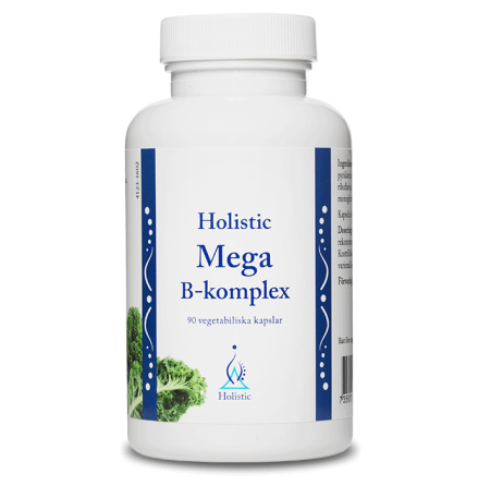 Mega B-komplex, 90 kapslar Holistic