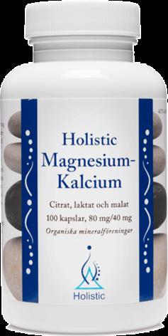 Magnesium-Kalcium, 100 kapslar Holistic