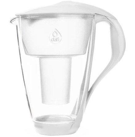 Dafi  Glas filterkanna 2 liter, vit