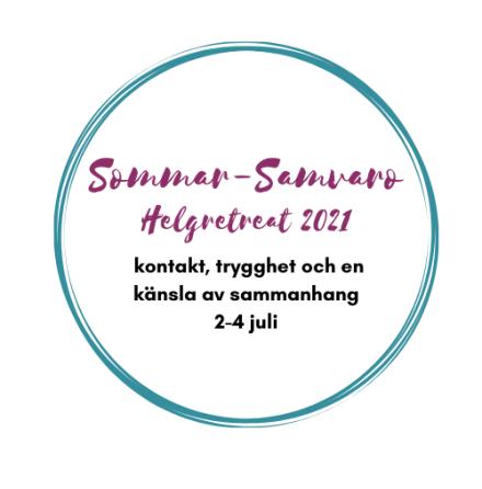 Sommar-samvaro - Helgretreat nära Stockholm