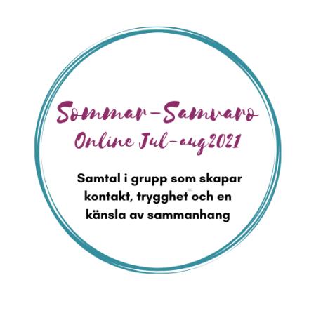 Sommar-samvaro Online juli-augusti