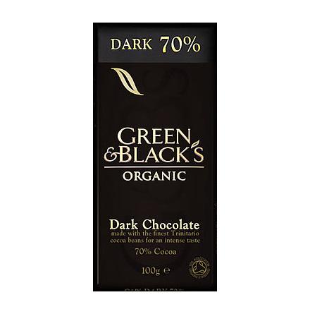 Mörk choklad  70%, ekologisk Green & Black´s